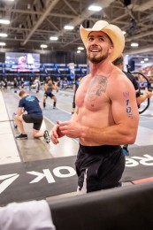 Sean Sweeney, the CrossFit Cowboy, took first place at the end of Day 1 after narrowly missing Games qualification last year.
