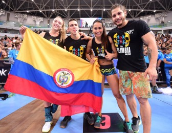 Regional winner Team Colombia is all smiles.