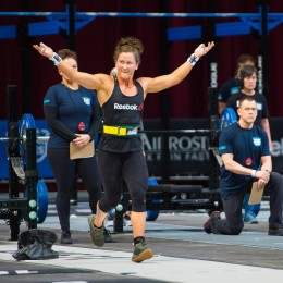 Tia-Clair Toomey made a statement on Day 1 with back-to-back event wins.