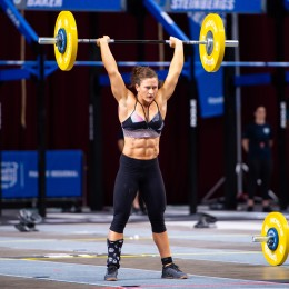 The 2017 Fittest Woman on Earth set an event record on Event 6 and put a stranglehold on first place in the Pacific.