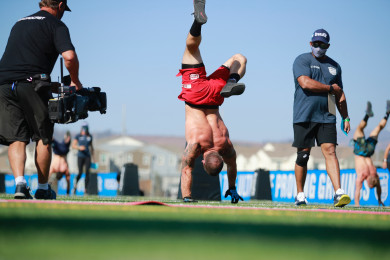 Mat Fraser during Handstand Sprint